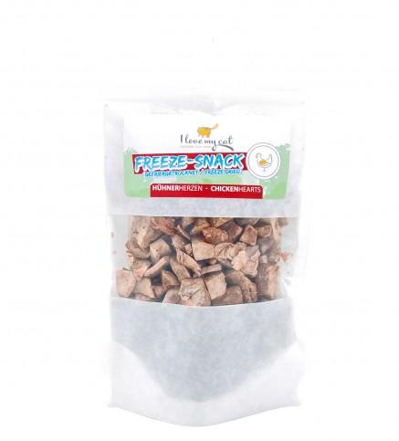 Freeze-Snack - Hühnerherzen (gefriergetrocknet)